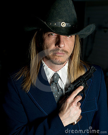 Outlaw Character with Gun