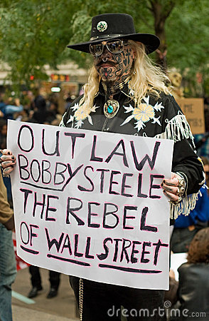 Outlaw: occupy protestor Editorial Stock Photo