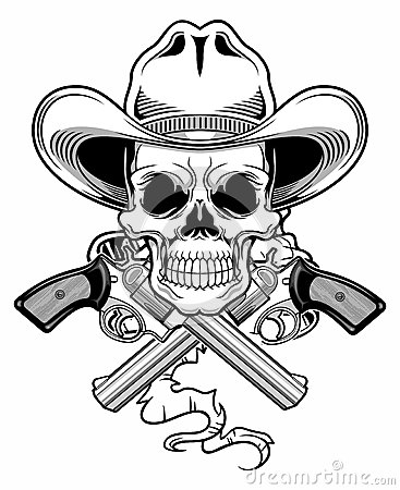 Free Outlaw Skull Royalty Free Stock Photography - 49415457
