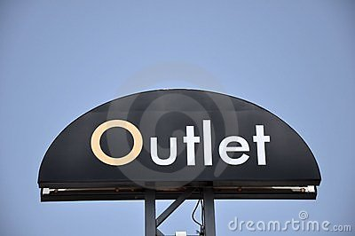 Outlet sign