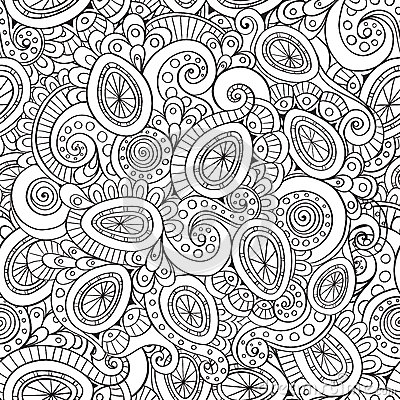 ... pattern. Vector seamless zentangle easter pattern with Easter eggs