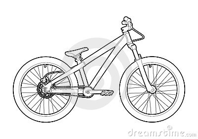 Outline bicycle