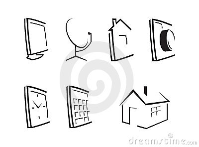 Outline desktop icons