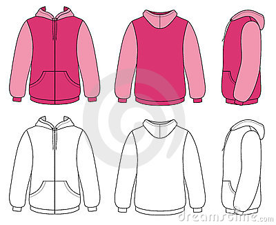 Zip Hoodie Jacket Illustrator Coloring Pages