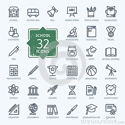 Free Outline Icon Collection - School Stock Photos - 62375043