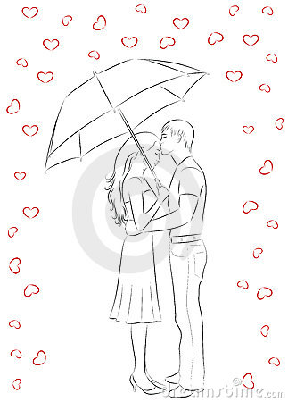 Outline Of Love. Royalty Free Stock Photography - Image ...