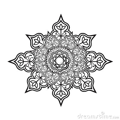 Outline mandala Vector Illustration