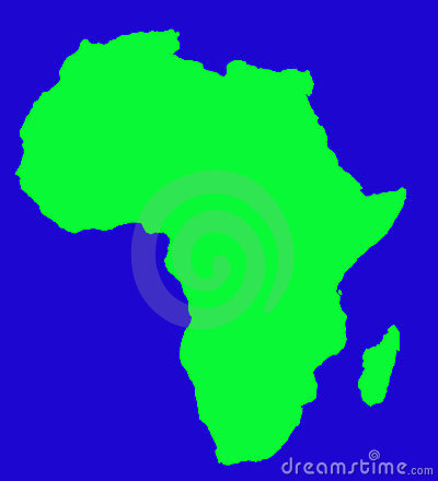 Outline map of African continent