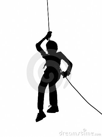 Outline of Person Abseiling