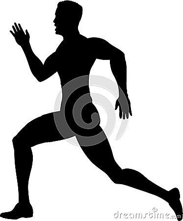 Outline of a runner