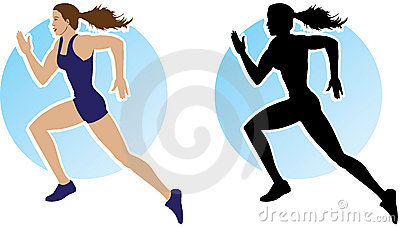 Outline of running girl