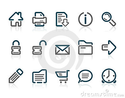 Outline web and internet icons
