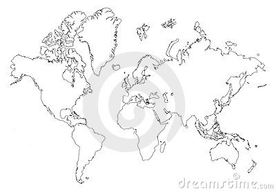 Outline world map