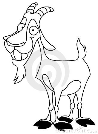 Free Outlined Billy Goat Stock Photo - 16346330