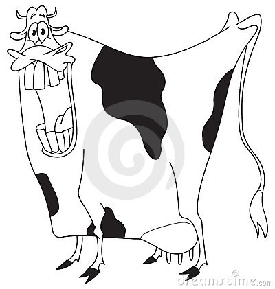 Outlined cow