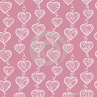 Outlines hearts pattern.