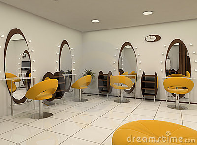 Outlook of luxury beauty salon