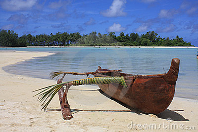 Outrigger On Beach Stock Photos - Image: 9277563