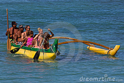 Outrigger Canoe Editorial Image