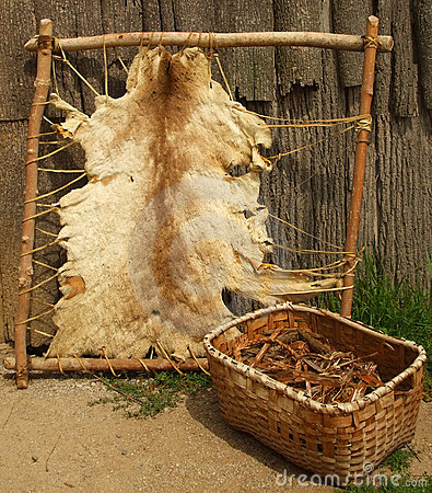 Free Outside An Iroquois Longhouse Royalty Free Stock Photo - 3085115