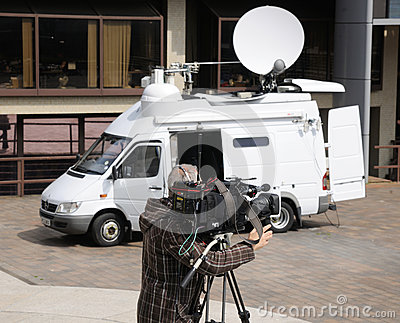 Outside broadcast TV camera Editorial Stock Photo