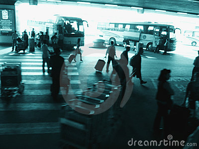 Outside busy Beijing airport