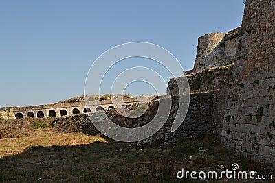 Outside fortifications, Methoni Castle