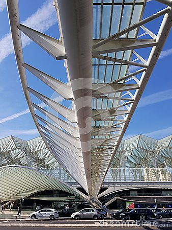 Free Outside Of Gare De Oriente Train Station, Lisbon, Portugal Stock Photos - 119972103