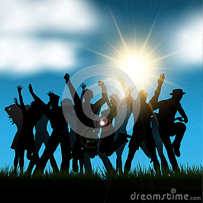 Outside party Vector Illustration