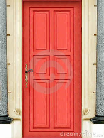 Outside red door