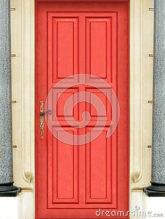 Outside red door