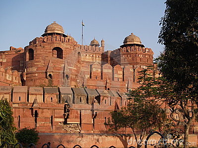 Outside the Red Fort in Agra, India