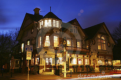 Outside view of a english pub Editorial Stock Photo