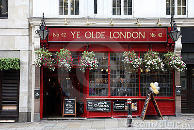 Outside view of a english pub Editorial Image