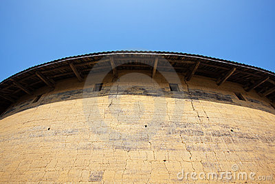 Outside wall of Hakka earth building