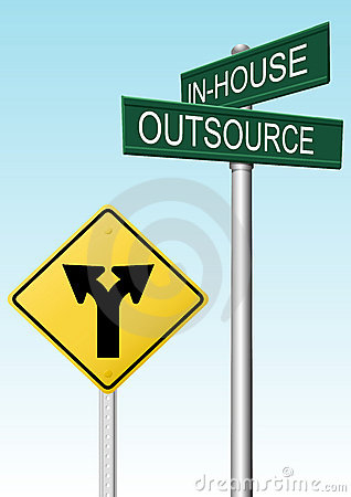 Free Outsourcing Supply Business Decision Signs Stock Image - 19516091