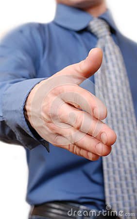 Outstretched mans hand