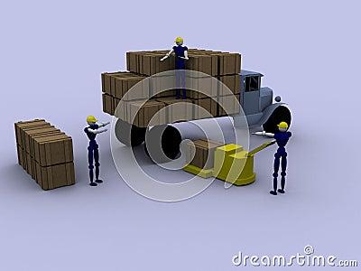 Ouvriers 3d