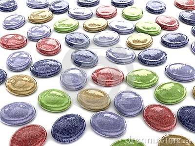 Oval assorted color hard sweet candy