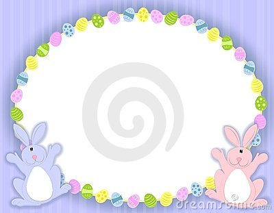 Oval Easter Eggs Frame Royalty Free Stock Photos - Image: 4039888