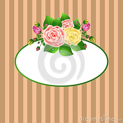 Oval Frame With Roses Royalty Free Stock Photos - Image: 17560818