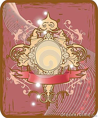 Oval glamour frame
