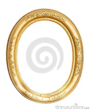Antique Gold Frame Oval Oval gold frame.