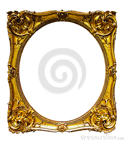 Free Oval Gold Picture Frame Stock Photography - 35444202