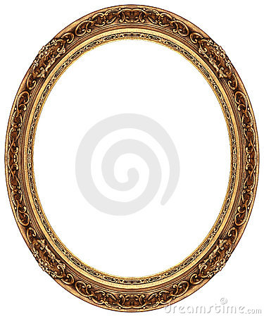 Free Oval Gold Picture Frame Stock Photography - 8343272