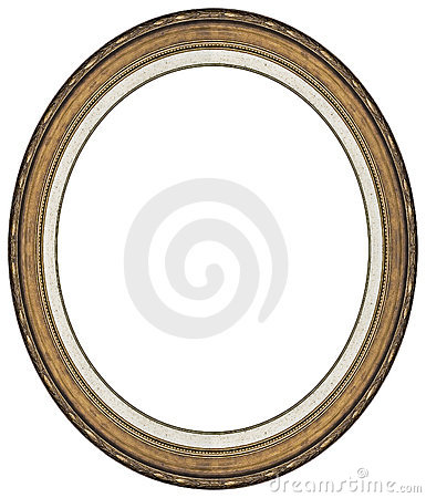 Free Oval Gold Picture Frame Royalty Free Stock Photos - 8373768