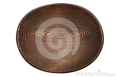 Oval handmade wooden stained plate