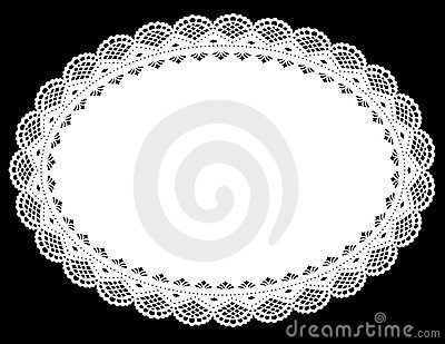 Oval Lace Doily Place Mat
