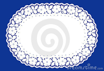 Oval Lace Doily Place Mat