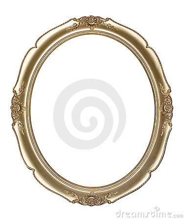 Free Oval Photo Frame (clipping Path) Stock Photography - 15196872